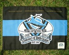NRL CRONULLA SHARKS FLAG Centenary Large  90cm x 60cm - NEW!