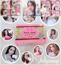 Jelly Pure Gluta Bar Soap Whitening Face Body Skin Aging Lightening Dark Spots