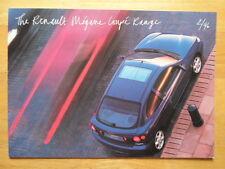 RENAULT Megane Coupé 1996 UK MKT la brochure commerciale