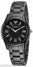 Emporio Armani Women's AR1441 Ceramic Slim Black Dial Watch