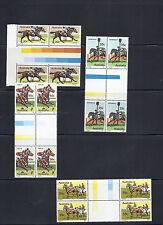 Australia 1978 Australian Horse Racing (Sc 691-4) Mnh Gutter Blocks of 4