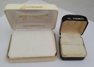 vtg BLACK HILLS GOLD jewelry boxes / Landstrom's & F. L. Thorpe / FREE SHIP