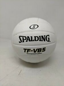 Spalding TF-VB5 Tournament Leather Volleyball, White