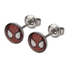 Spider Man Mask Stainless Steel Stud Earrings Spiderman Ear Rings Jewelry NIP