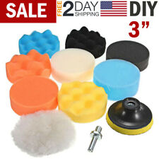 Car Buffing Pads Polishing Sponge Buffer Set Waxing Foam Polisher Kit for Drill