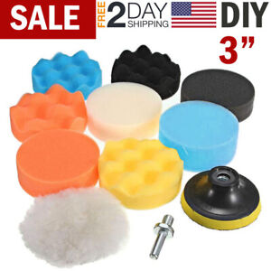 Buffing and Cutting 3Inch Polishing Pads 16Pcs Buffing Pads Wool Pads Multifunctional Cleaning Brush Artilife 21Pcs Car Foam Drill Polishing Pad Kit Backing Plate for Car Polisher Polishing