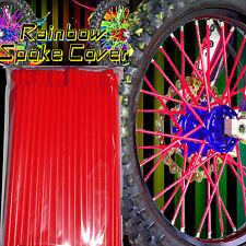 Spoke cover Spoke Tubes Wraps Skins Ribb Speichen Überzug 72 Stck Rot Rainbow