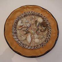 Assiette céramique faïence COQUILLAGES France