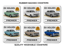 HOLDEN 63 64 65 EH PREMIER  5OTH ANNIVERARY    SET OF 6 RUBBER DRINK  COASTERS