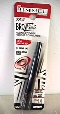 Rimmel Brow Shake Eyebrow Filling Powder, Black, #004, New Free Shipping