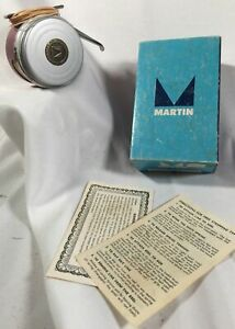 Vintage Martin Automatic Fly Fishing Reel #81 Original Box Very Nice Condition