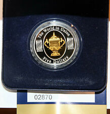 AUSTRALIA  5 DOLLARS 2003 KM#810   SILVER RUGBY WORLD CUP