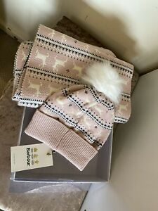 Barbour Fairlisle Hat And Scarf Bnwt