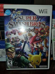 Super smash bros brawl Nintendo Wii Case Game Manual