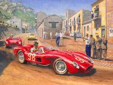 Ferrari 250 Testa Rossa Targa Florio Motor Sport Racing Classic Car Art Print