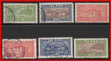 Iceland 1925 Architecture Sc#144-48 used Cv$26.25 E11