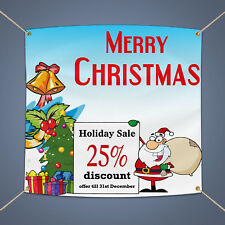 Merry Christmas Holiday Sale 5'X3' Business Shop Advertising Vinyl Banner Sign