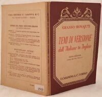 GRASSO BONAJUTI TEMI DI VERSIONE DALL'ITALIANO IN INGLESE CASANOVA 1953 ENGLISH