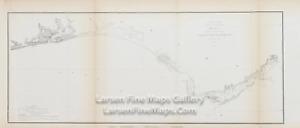 1855 USCS Map Florida Coast from Perdido Bay to St. Marks