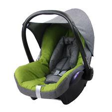BAMBINIWELT Ersatzbezug 6tlg. Maxi-Cosi CABRIOFIX Baby MELIERT GRAU/HELLGRÜN