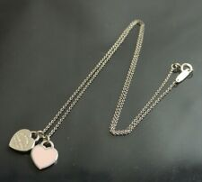 Authentic Tiffany & Co. Necklace return to  heart W Sterling Silver #4450