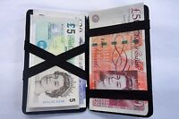 Real Leather Wallet  Magic Milkman Taxi Driver  Puzzle Wallet Black