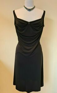 Vivienne Westwood  vintage Gold Label black draped Dress Size 14
