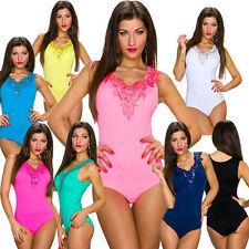 Damen-Bodys ohne Muster für die Freizeit