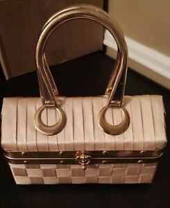 Used Vintage Purse Handbag READ Make Up Kit Handles Case