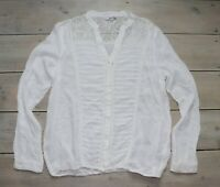Women's Vintage TALLY WEIJL Long Sleeve Lace Details Blouse Shirt Top UK14