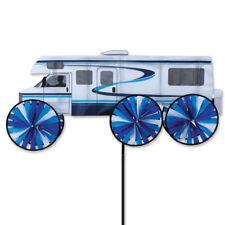 "Blue RV Camper 28"" Replica Staked Wind Spinner Pole Ground Mount..34... PR 25968"