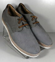 252659 MS50 Men's Shoes Size 10 M Gray Leather Lace Up Johnston & Murphy