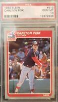 1985 Fleer #513 CARLTON FISK - White Sox - PSA 10 GEM MINT