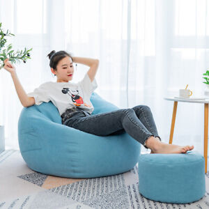 Large Classic Lazy Bean Bag Chair Sofa Seat Covers Indoor Gaming Adult Storage