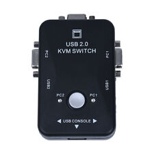 SWITCH KVM 2 COMPUTER IN 1 TASTIERA MOUSE MONITOR USB VGA T6G1 X4T7