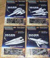 Mass Effect Set of 4 Metal earth 3D Laser Cut Models SX3 SR2 Alliance Turian