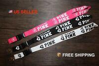 3X LOVE PINK LANYARD ID Badge KeyChain Car ID Holder Phone Strap - 3 COLORS