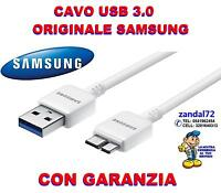 CAVO DATI SAMSUNG ORIGINALE USB 3.0 GALAXY S5 NOTE 3 i9600 N9000 N9005 G900 B  .