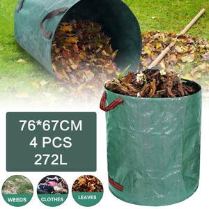 4Stk. Gartenabfallsack XXL Gartensack Laubsack Gartentasche Behälter 272 Liter