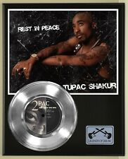2 Pac Shakur Platinum Record display wood plaque