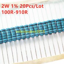 20pcs 2w 2 Watt Metal Film Resistor 1 220 100 150 180 330 470 100 910 Ohm