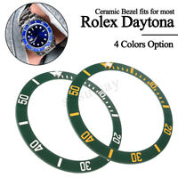 4Types 38mm Black Blue Green Ceramic Bezel Insert for 40mm Submariner Mens Watch