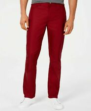 Alfani Mens Pants Stretch Choose Size New Jester Red Straight Leg Twill Jeans