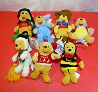 Winnie the Pooh Disney Store Mini Bean Bag Stuffed Animals Lot of 7