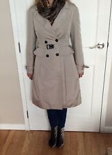 $ 2300 PRADA Coat Gray Solid Trench Size 44 Made in Italy Women