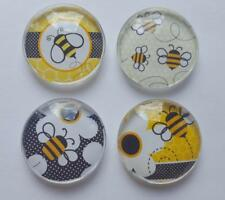 Bumble Bee Glass Magnet set of 4