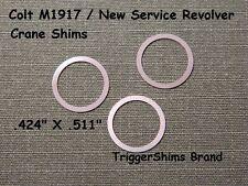 Colt M1917 / New Service Revolver Crane Shims 4 Pak Made in USA
