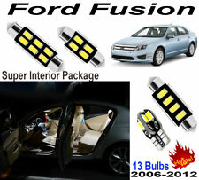 13 Bulbs Xenon White LED Full Interior Dome Light Kit For Ford Fusion 2006-2012