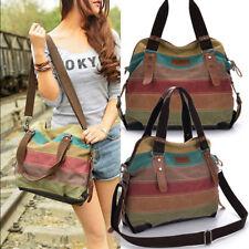 Larger Canvas Shoulder Bag Satchel Crossbody Tote Handbag Messenger Women