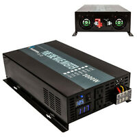 Pure Sine Wave Inverter 3000W Power Inverter 12V to 120V Off Grid LED Display